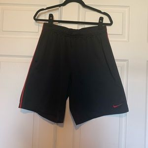 Men's Nike red and black basketball shorts